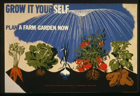 Title: Grow it yourself Plan a farm garden now. Creator(s): Bayer, Herbert, 1900-, artist Related Names:     United States. Rural Electrification Administration , sponsor Date Created/Published: NYC : NYC WPA War Services, [between 1941 and 1943] Call Number: POS - WPA - NY .B39, no. 1 (C size) [P&P]